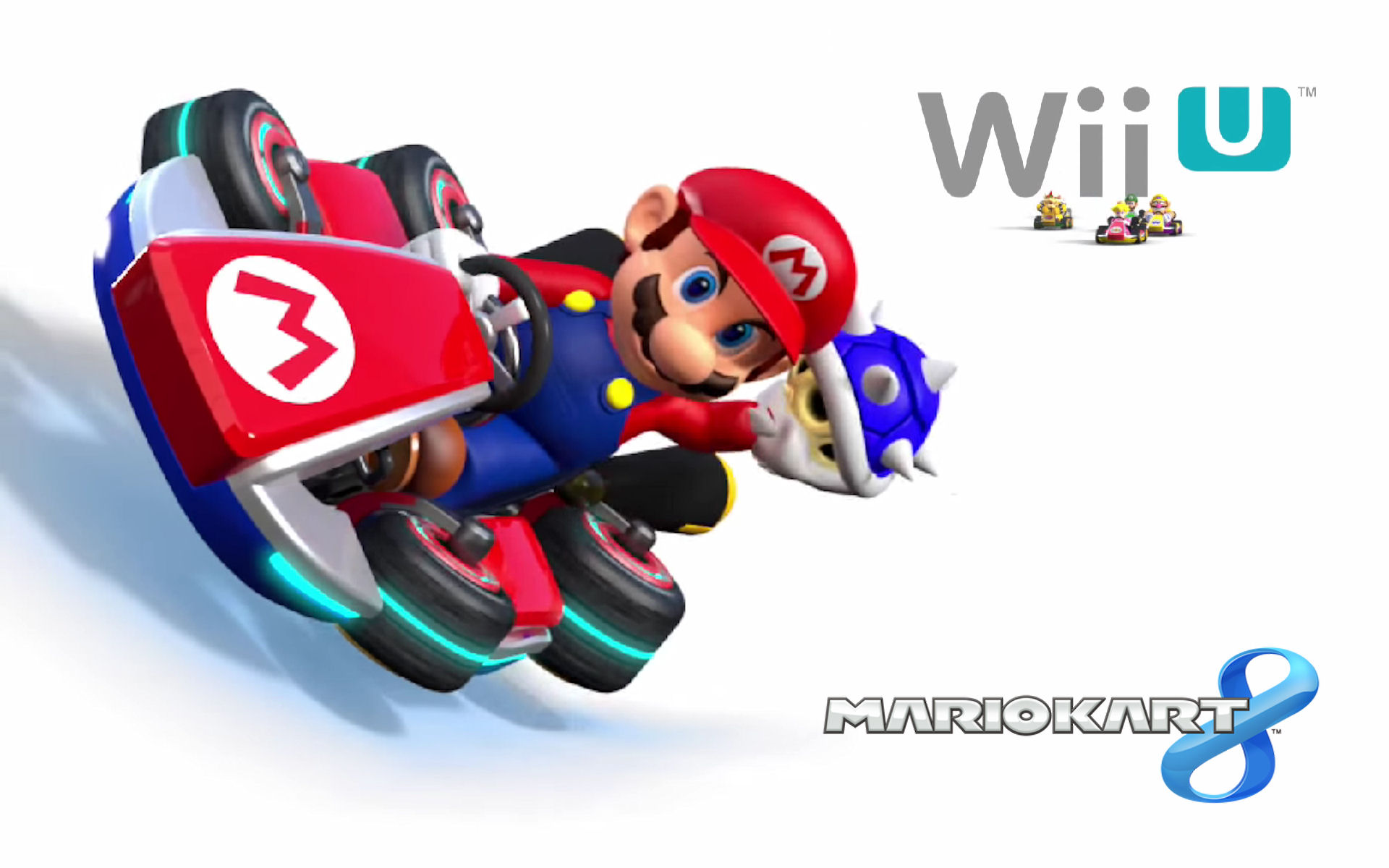 Mario Kart 8 Background: Mario Kart 8 Blue Shell Wallpaper