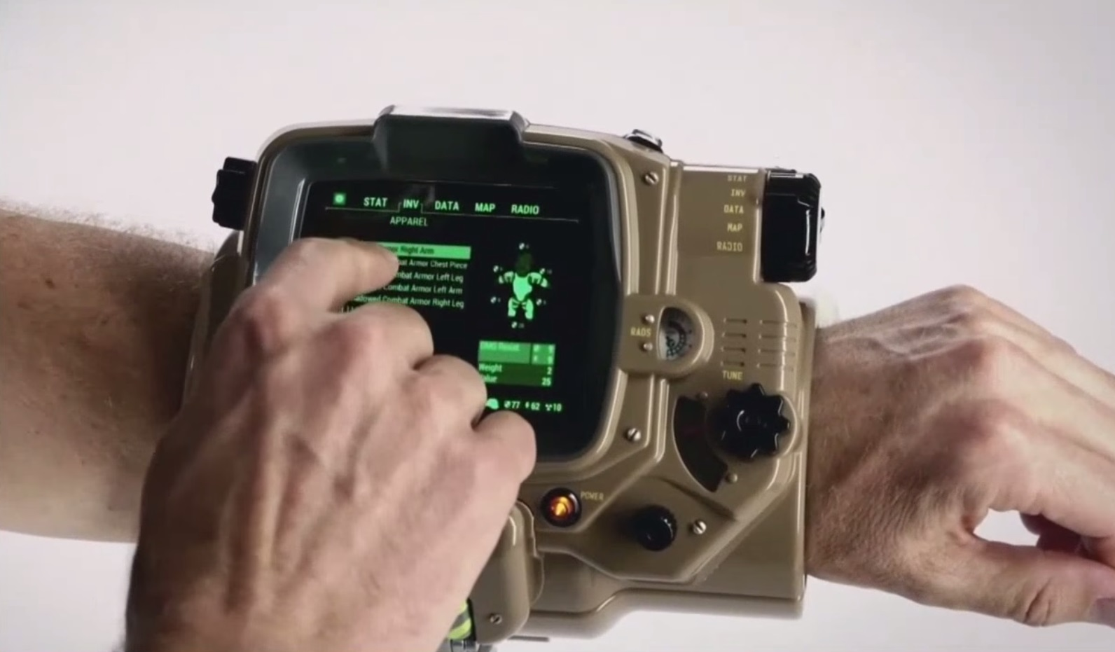 Fallout 4 Real Life Pipboy Stock Photo On Wrist Xbox One ...